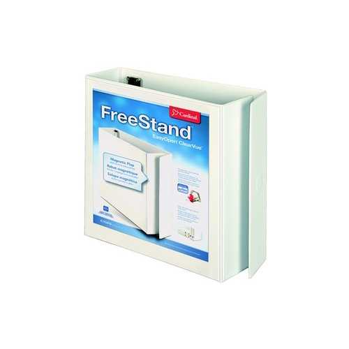 "Cardinal 3"" White EasyOpen FreeStand Locking Slant-D Ring Binder 6pk (CRD-43130) Image 1"