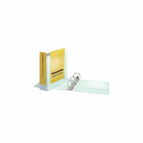 "Cardinal 3"" White EconomyValue ClearVue Round Ring Binder 12pk (CRD-90091)"