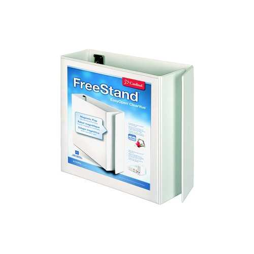 "Cardinal 4"" White EasyOpen FreeStand Locking Slant-D Ring Binder - 4pk (CRD-43140) Image 1"