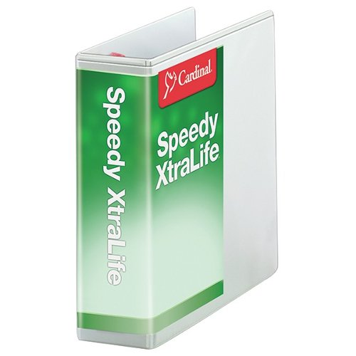 "Cardinal 4"" White Speedy XtraLife Non-Stick Locking Slant-D Ring Binder 6pk (CRD-59140) Image 1"