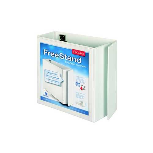 "Cardinal 5"" White EasyOpen FreeStand Locking Slant-D Ring Binder 2pk (CRD-43150) Image 1"