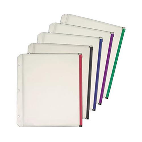 "Cardinal Assorted 1/2"" Zippered Binder Pockets Pockets 40pk (CRD-14650)"