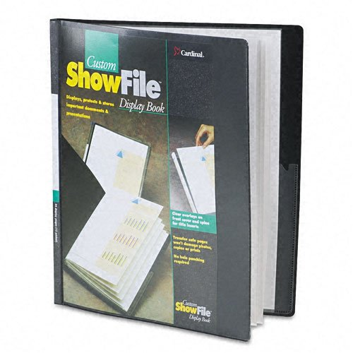 Cardinal Black Custom ShowFile 12 Pocket Presentation Book 12pk - CB (CRD-50132) Image 1
