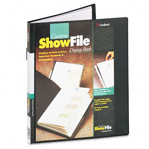 Cardinal Black Custom ShowFile 24 Pocket Presentation Book 12pk (CRD-50232)