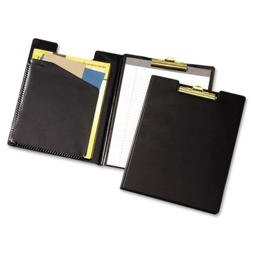 Cardinal Black Sealed Vinyl Legal Size Clip Folder with Pad 12pk - CRD-253610 (CRD-253-610) Image 1