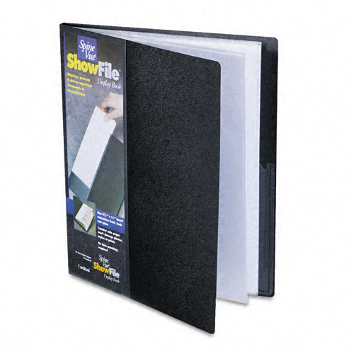 Cardinal Black ShowFile SpineVue 12 Pocket Presentation Book 12pk - CB (CRD-51132) Image 1