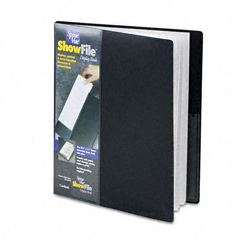 Cardinal Black ShowFile SpineVue 24 Pocket Presentation Book 12pk (CRD-51232) Image 1