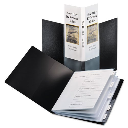Cardinal Black SpineVue 24 Pocket Presentation Book with Index 12pk (CRD-51336) Image 1