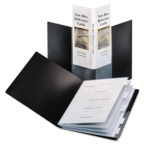 Cardinal Black SpineVue 24 Pocket Presentation Book with Index 12pk (CRD-51336)