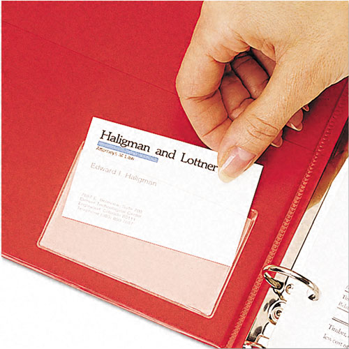 Cardinal HOLDit! Top Open Business Card Pocket 10pk - CB (CRD-21500) Image 1