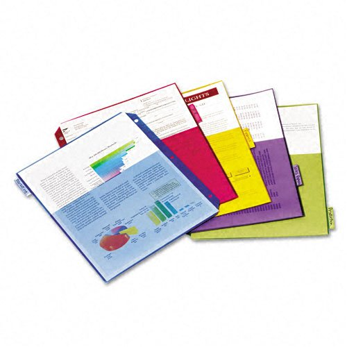 Cardinal Multi-Color Poly 5 Tab Double Pocket Divider 4pk (CRD-84003) Image 1