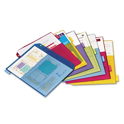 Cardinal Multi-Color Poly 8 Tab Double Pocket Divider 4pk (CRD-84004) Image 1