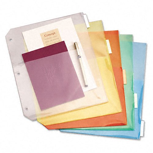 Cardinal Multi-Color Ring Binder Double Pockets with 5 Tabs 24pk (CRD-84009) Image 1