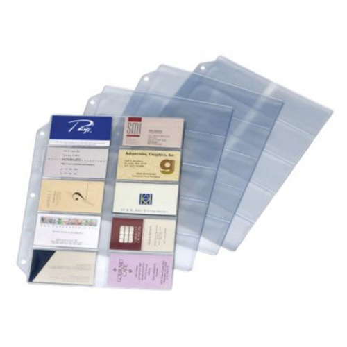 Business Card Binder Refill Pages Image 1