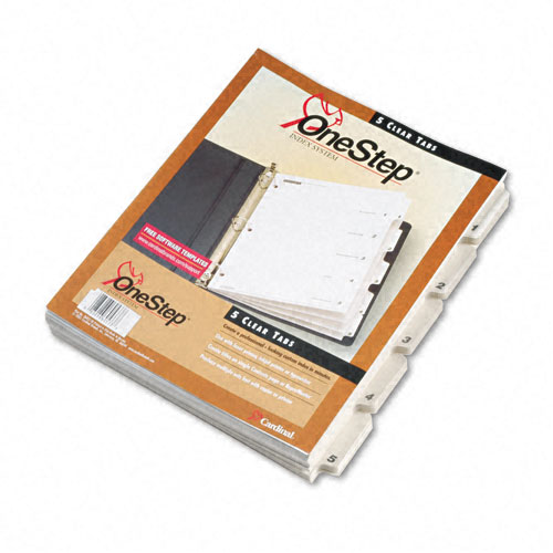 Binder with 5 Dividers Image 1