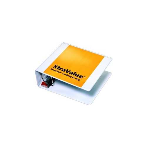 Cardinal White XtraValue ClearVue Locking Slant-D Binders (CRD-XVCVLSDBWH) Image 1