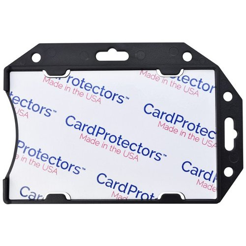"CardProtectors 3.38"" x 2.13"" Black Open-Face Rigid Shielded Vinyl 1-Card Holders - 50pk (1840-5091) - $129.39 Image 1"