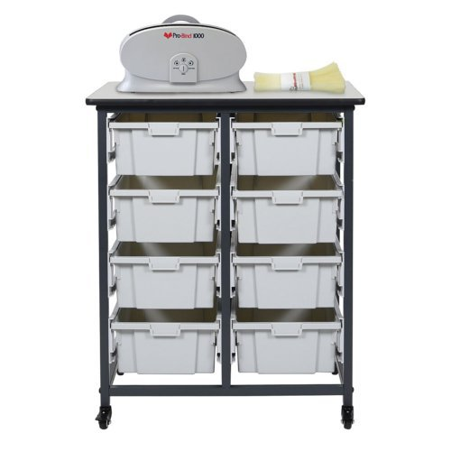 "30.75"" Binding Workstation with 8 Large Storage Bins (Double Row) (BWMBSDR8L) Image 1"