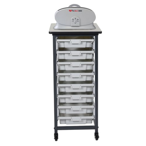 "30.75"" Binding Workstation with 8 Small Storage Bins (Single Row) (BWMBSSR8S) Image 1"