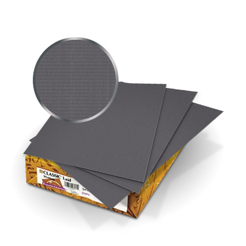 "Neenah Paper Charcoal Classic Laid 80lb 8.75"" x 11.25"" Covers - 50pk (MYCLC8.75X11.25CH80) Image 1"