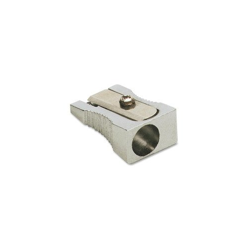 Charles Leonard 1 Hole Silver Sharpener for Standard Size Pencils (LEO-77765)