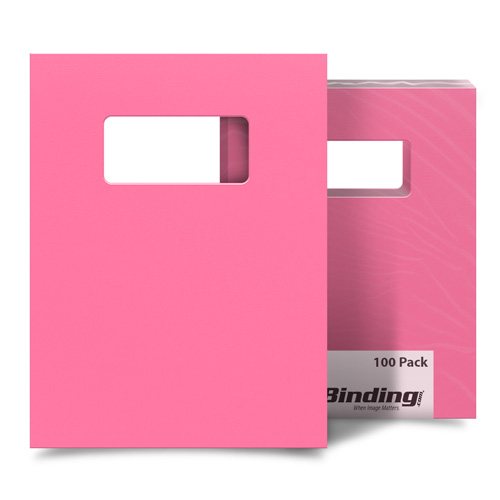 """Cheery Cherry 8.5"""" x 11"""" Card Stock Covers with Windows - 100 Sets (MYCS8.5X11CHW) - $49.74 Image 1"""