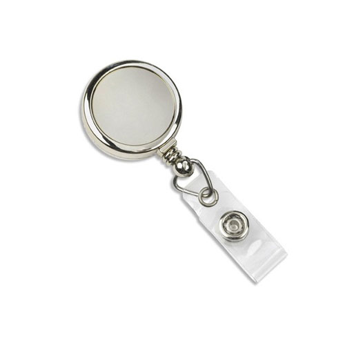 Chrome Max Label Round Badge Reel with Slide Clip - 25pk (MYID905GCCRM) Image 1