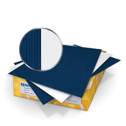 "Neenah Paper Classic Columns Patriot Blue - Avalanche White 9"" x 11"" 120lb Crest Duplex Covers With Windows - 50 Sets (MYCCLC9X11PBAW480W) Image 1"