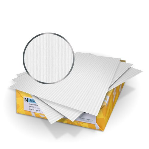 "Neenah Paper Classic Columns Rec Natural White 9"" x 11"" 80lb Cover With Windows - 50 Sets (MYNCC9X11RNWW) Image 1"