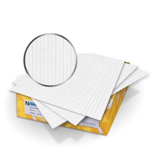 "Neenah Paper Classic Columns Recycled 100 Bright White 8.5"" x 11"" 80lb Covers With Windows - 50 Sets (MYNCC8.5X11R1BW248W) Image 1"