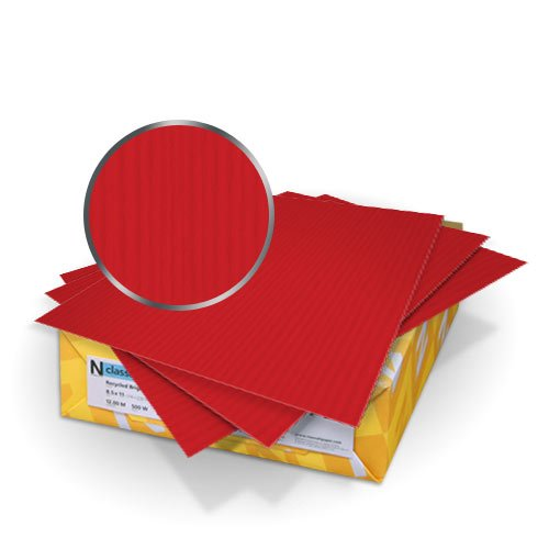 "Neenah Paper Classic Columns Red Pepper 9"" x 11"" 80lb Cover With Windows - 50 Sets (MYNCC9X11RPW) Image 1"