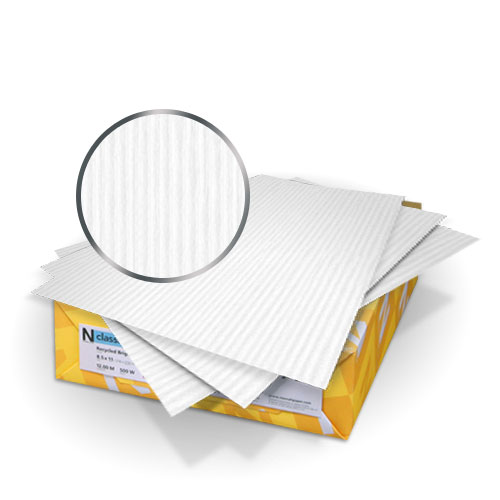 "Neenah Paper Classic Columns Solar White 9"" x 11"" 80lb Cover With Windows - 50 Sets (MYNCC9X11SWW), Covers Image 1"