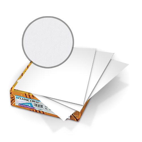 "Neenah Paper Classic Crest Avalanche White 9"" x 11"" 130lb Double Thick Covers With Windows - 50 Sets (MYCCC9X11AW520W) Image 1"