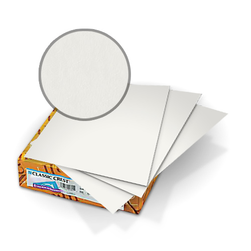 "Neenah Paper Classic Crest Avon Brilliant White 5.5"" x 8.5"" 110lb Covers - 50pk (MYCCC5.5X8.5ABW341) Image 1"