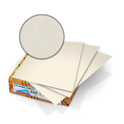 "Neenah Paper Classic Crest Baronial Ivory 8.5"" x 11"" 80lb Covers with Windows - 50sets (MYCCC8.5X11BI248W) Image 1"