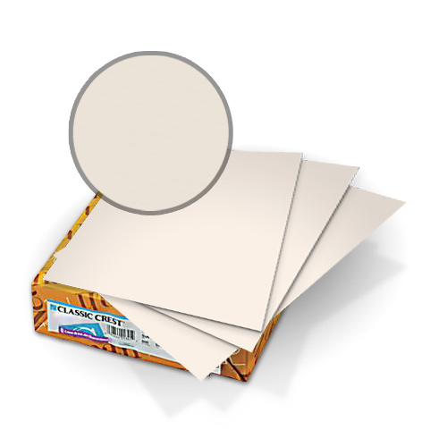 "Neenah Paper Classic Crest Cream 8.75"" x 11.25"" 110lb Covers With Windows - 50 Sets (MYCCC8.75X11.25CC341W) Image 1"