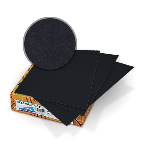 Neenah Paper Classic Crest Epic Black 80lb Covers (MYCCCEBK320) Image 1