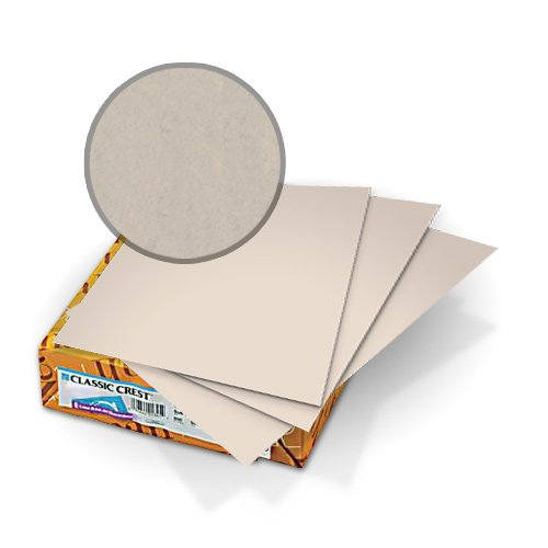 "Neenah Paper Classic Crest Millstone 9"" x 11"" 80lb Covers With Windows - 50 Sets (MYCCC9X11MS248W) Image 1"