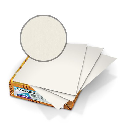 "Neenah Paper Classic Crest Natural White 9"" x 11"" 65lb Covers With Windows - 50 Sets (MYCCC9X11NW201W) Image 1"