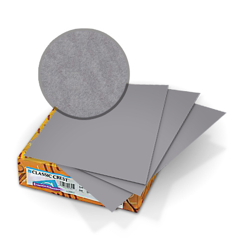 "Neenah Paper Classic Crest Pewter 8.5"" x 11"" 80lb Covers With Windows - 50 Sets (MYCCC8.5X11PE248W) Image 1"