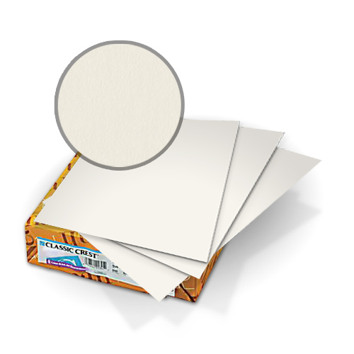 "Neenah Paper Classic Crest Recycled 100 Natural White 8.5"" x 11"" 80lb Covers With Windows - 50 Sets (MYCCC8.5X11R1NW248W) Image 1"