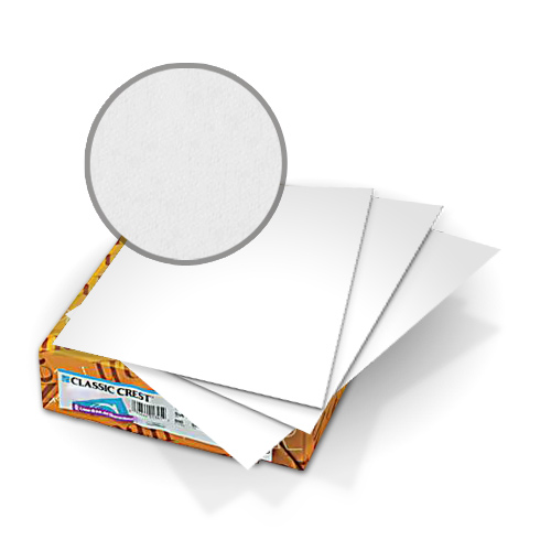 "Neenah Paper Classic Crest Solar White 8.5"" x 11"" 110lb Covers With Windows - 50 Sets (MYCCC8.5X11SW341W) Image 1"