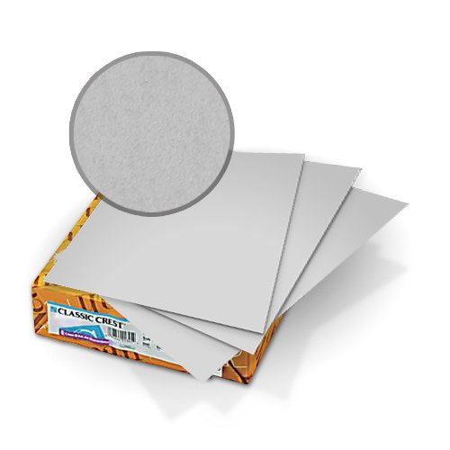 "Neenah Paper Classic Crest Whitestone 9"" x 11"" 80lb Covers With Windows - 50 Sets (MYCCC9X11WS248W) Image 1"