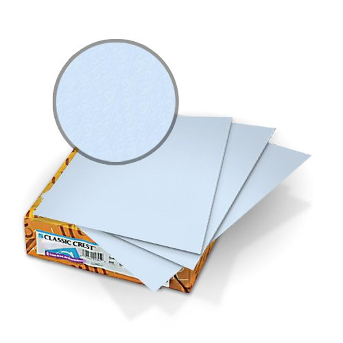 "Neenah Paper Classic Crest Windsor Blue 8.5"" x 11"" 80lb Covers With Windows - 50 Sets (MYCCC8.5X11WB248W) Image 1"