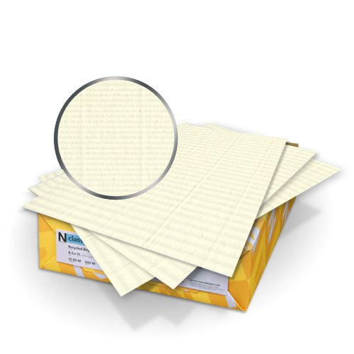 "Neenah Paper Classic Laid Natural White 9"" x 11"" 120lb Covers With Windows - 50 Sets (MYCLC9X11CCNW480W), Neenah Paper brand Image 1"