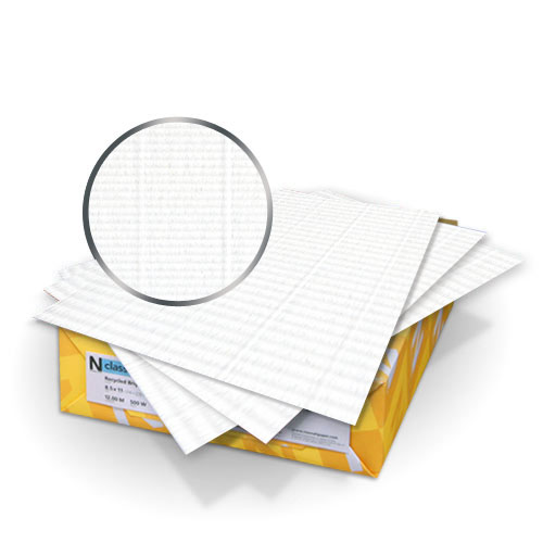 """Neenah Paper Classic Laid Solar White 8.5"""" x 11"""" 100lb Covers With Windows - 50 Sets (MYCLC8.5X11SW400W) Image 1"""