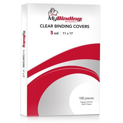 "5mil Crystal Clear 11"" x 17"" Binding Covers - 100pk (TC511X17S) Image 1"