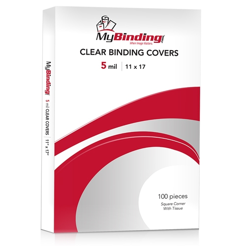 Ledger Sized Clear Binding Covers