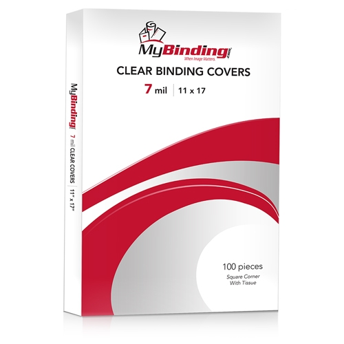 "7mil Crystal Clear 11"" x 17"" Binding Covers - 100pk (TC711x17S)"