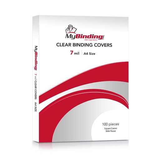 7mil Crystal Clear A4 Size Binding Covers -100pk (TC78.3X11.7S) Image 1
